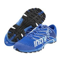 Inov-8 F-Lite 230 Azure / White - The original fitness shoe of choice. Low profile cushioned midsole with 6mm heel to toe drop is ideal for Olympic lifts and transitioning to a natural running style. Outside of the box, this shoe is designed for running on hard pack trails and tarmac surfaces.
