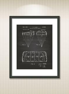 Parachute Design 1964 Patent Art Illustration - Drawing - Printable INSTANT DOWNLOAD - Get 5 colors background