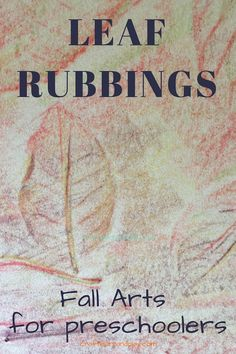 Leaf rubbings magic fall art projects for preschoolers. This is exciting art project young kids will think is magic. Great opportunity to talk with preschooler or toddler about changing seasons and learn about fall activities. Click for more. #fallcrafts #autumn #naturecrafts #kidsart #leaf #rubbings