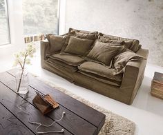 DELIFE Hussensofa Noelia 200x110cm Braun Couch mit Kissen, Big Sofas Jetzt bestellen unter: https://moebel.ladendirekt.de/wohnzimmer/sofas/bigsofas/?uid=f105afeb-76cb-5460-9c1c-9c92e91e184e&utm_source=pinterest&utm_medium=pin&utm_campaign=boards #bigsofas #sofas #wohnzimmer