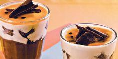 mousse de chocolate e maracujá