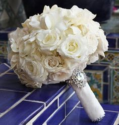 All-White Wedding Bouquets