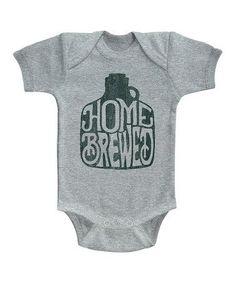 Heather Gray \'Homebrewed\' Bodysuit - Infant