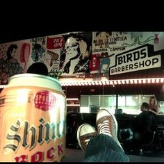 Birds Barbershop  Beat the heat with free Shiner Beer while you wait.