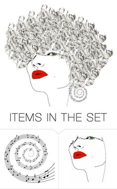 """Music Hair"" by juliehalloran ❤ liked on Polyvore featuring art"