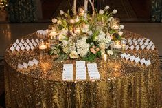 Delaware Wedding Florist - Hotel DuPont - A Garden Party florist - Jeff Anderson Photography - winter wedding - roses - peonies - red - ballroom - tulips - holiday wedding - gold sequins - birch branches