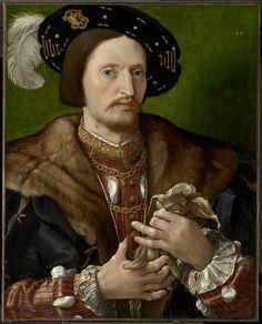 Jan Gossaert c. 1530 Portrait of a Gentleman - Jan Gossaert , also known as Jan Mabuse Renaissance Fashion, Renaissance Clothing, Italian Renaissance, Renaissance Portraits, Renaissance Paintings, Jan Gossaert, 16th Century Fashion, 17th Century, Clark Art