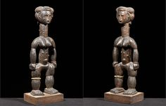 Ancestor Figure  Attie , Côte D'Ivoire, Early 20th C.   PROVENANCE: Acquired by Evelyn Annenberg Jaffe Hall from J.J. Klejman GalleryBRUCE FRANK PRIMITIVE ART | African