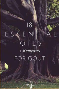 EOs for gout: lemongrass, frankinsense, peppermint