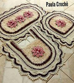 Jogo banheiro Wristlet Tutorial, Creative Crafts, Diy And Crafts, Bathroom Sets, Beautiful Crochet, Knit Patterns, Crochet Stitches, Art Decor, Lily
