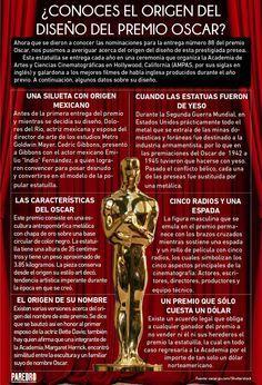Origen del diseño del premio Oscar #infografia #infographic #design
