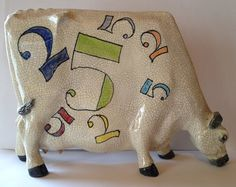 Flat Cow Sculpture by Lawson Rudge Custom by AStrokeoftheBrush