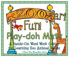Your students will love these zoo animal themed play-doh mats that will help them learn vocabulary and develop their fine motor skills! The two sty...