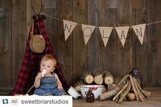 Image of Woodsy Wonders Style, Buffalo Plaid Newborn Tee-Pee
