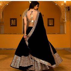 Beautiful Indian Party Wear New Soft Net Embroidered Lehenga Choli With Dupatta Indian Gowns Dresses, Indian Fashion Dresses, Dress Indian Style, Indian Designer Outfits, Indian Lehenga, Black Lehenga, Silk Lehenga, Velvet Lehnga, Rajasthani Lehenga