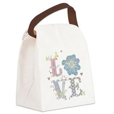 Love Canvas Lunch Bag on CafePress.com