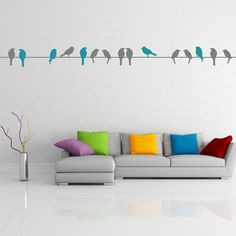 Whether above your headboard or adorning an accent wall, this charming perched bird decal fills your home with eye-catching whimsy and organic style.