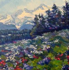 landscape Painting  6 x 6 Original Acrylic on by CapturedOnCanvas, $55.00