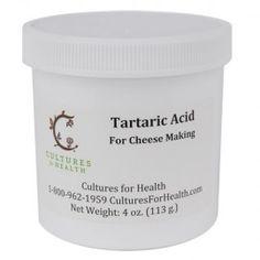 Tartaric Acid for Making Mascarpone Cheese