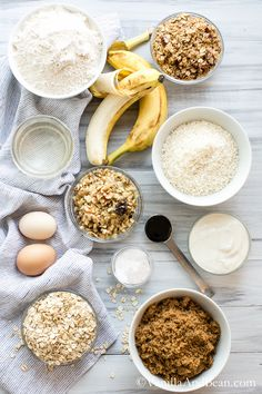 Banana Oat Crunch Muffins   Vanilla And Bean