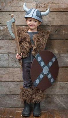 déguisement diy halloween garçon viking