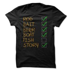 Fishing Checklist Funny Shirt T Shirt, Hoodie, Sweatshirt - Career T Shirts Store