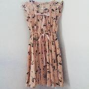 超可愛淺粉橙色小鹿繫帶飛鼠袖連衣裙 - Tradeduck.com - 全港首個以物換物交換網