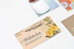 Love this overall design! Wanderlust business card [photo via papernstitchblog.com]