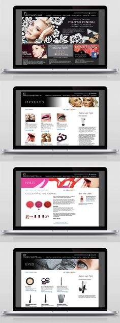 Website design for Face of Australia Cosmetics by Briony Designs.