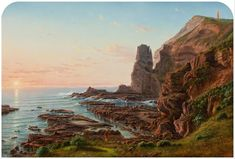 Castle Rock, Cape Schanck von Eugene von Guérard Castle Rock, Colonial Art, Google Art Project, Museum, Australian Art, Visionary Art, Art For Art Sake, Landscape Paintings, Landscapes