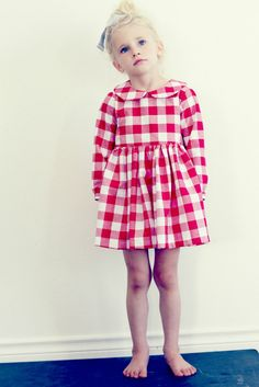 Autumn Harvest Peter Pan Collar Girls Dress by FleurandDot