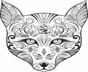 Print advanced cat sugar skull coloring pages coloring pages