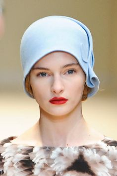 Cacharel, Fall 2012 I've always loved 1920s retro style hats. Maybe for my winter hat...