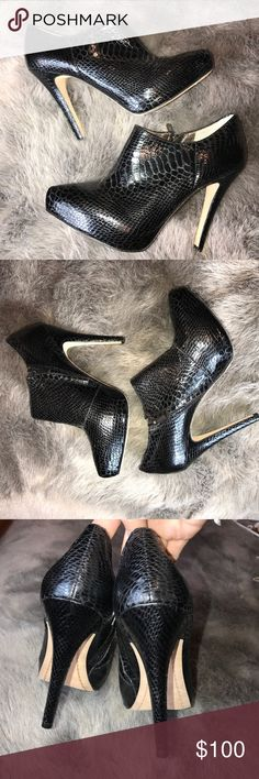 NEW SAM EDELMAN - Ria Boa Snake Heeled Bootie Brand new without box Sam Edelman Ria Boa Snake Bootie. These are true showstoppers. Size 9, side zippers for easy on and off. Sam Edelman Shoes Ankle Boots & Booties