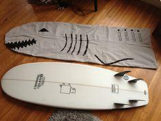 DIY Canvas bag - cute shark design! More