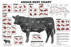 Detalhes de Cortes de Carne Bovina nos Estados Unidos (Angus)
