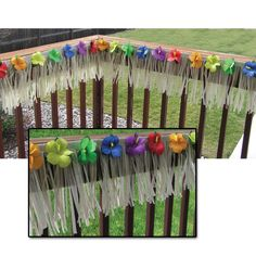 Deck Fringe - Natural Nylon with Hibiscus Flowers Description: Now your deck can have that tropical feel for your next luau party! Includes natural color nylon fringe with multi-co Hawaiian Luau Party, Hawaiian Decor, Tropical Party, Flower Party Themes, Summer Party Themes, Luau Theme, Hawaiian Centerpieces, Luau Party Supplies, Flower Bar