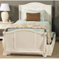 Shayna Twin Trundle Sleigh Bed Pink Bedrooms Twin