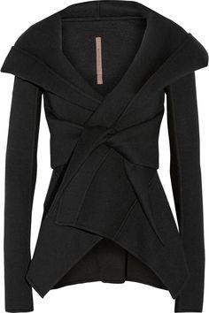 Plus Size Minimalist Capsule Wardrobe Blazers, Peplum Jacket, Hooded Jacket, Neoprene Fashion, Rick Owens Women, Pret A Porter Feminin, Up Girl, Color Negra, Petite Fashion