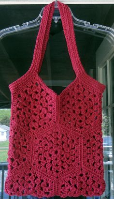 Crocheted Tote by HahnMade on Etsy, $18.00