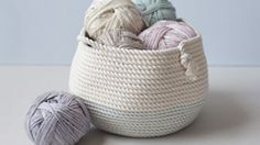 Sewing baskets with rope!