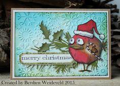 Scrap from Bemmel: Christmas Crazy Bird + Holliday Greens + cuttlebug snowflakes Crazy Bird, Crazy Cats, Holiday Cards, Christmas Cards, Tim Holtz Stamps, Bird Cards, Animal Cards, Winter Cards, Halloween Cards
