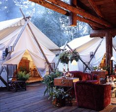 The Coolest Places to go Glamping in Canada - Not a fan of roughing it in the wilderness? From posh tents to tree houses, here's where to go glamping in Canada to enjoy the great outdoors in comfort. Into The Wild, Camping Glamping, Luxury Camping, Camping Nice, Camping Gear, Outdoor Camping, Luxury Travel, Indoor Outdoor, British Columbia