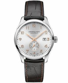 Hamilton Men's Swiss Automatic Jazzmaster Maestro Black Leather Strap Watch 40mm H42515555