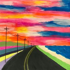 7 Elements Of Art, Road Painting, 7th Grade Art, Kids Art Class, Perspective Art, Art Projects, Space Projects, Art Lessons Elementary, High Art