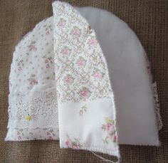 Today I made a few Tea Cosies and would like to show you how I made them. This is a nice project to use up your scraps of lace and doil...