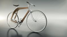 the 'aero bicycle' project, created by architects atanas zhelev, mariya korolova and martino hutz, incorporates an inventive composite wood bike frame and was shown at milan design week 2015