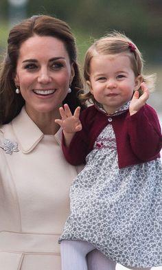 Le Prince George et la Princesse Charlotte Disent Au Revoir au Canada