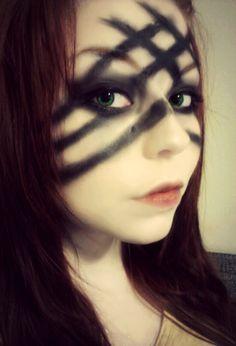 Warrior woman make-up, war paint