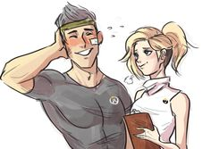 genji and mercy | Tumblr